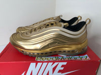 Nike Air Max 97 QS Metallic Gold 2020 PRE OWNED Mens CT4556 700