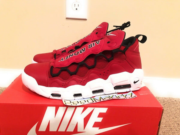 Nike Air More Money Gym Red Black White Mens sizes AJ2998 600