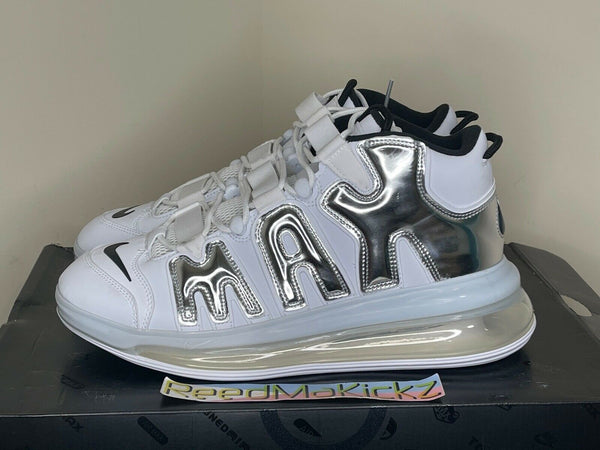 Nike Air More Uptempo 720 QS White Chrome Mens 12us DISPLAY ITEM BQ7668 100