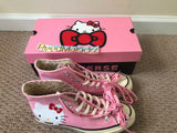 Converse Chuck Taylor All Star High Hello Kitty Pink DAMAGED BOX Womens 162936C
