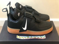 Nike Air Force 1 Utility Black Gum Mens DAMAGED BOX AO1531 002
