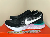 Nike Epic React Flyknit 2 Black Bleached Coral Grade School Youth AQ3244 014