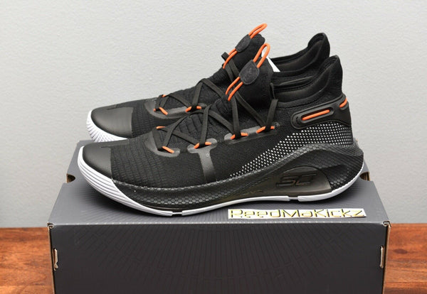 Under Armour Stephen Curry 6 VI Oakland Sideshow Black Orange Mens 3020612 003
