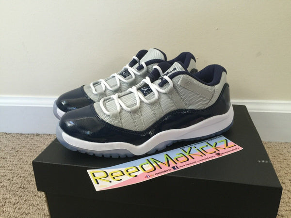 Nike Air Jordan XI 11 Retro Low 2015 Grey Mist Georgetown Pre school sizes