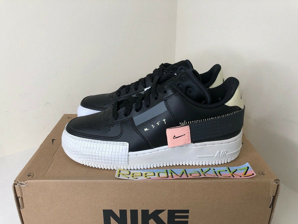 Nike Air Force 1 Type Black Anthracite GS 6Y PRE OWNED BQ4793 001