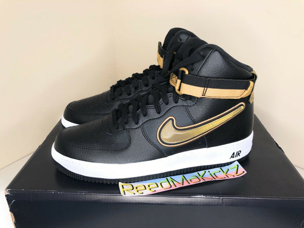 Nike Air Force 1 High '07 LV8 Sport NBA Black Metallic Gold Mens AV3938 001