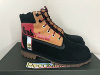 Timberland 6 inch Premium Boots Black Colorblock Kids Youth Junior TB0A29NA 001