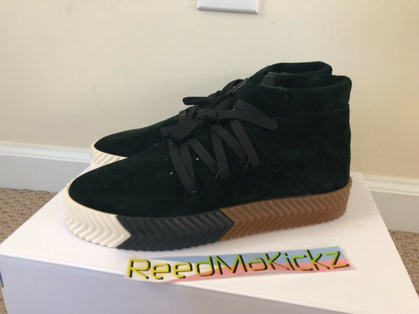 Adidas AW Skate Mid Alexander Wang Green Night Core Black Mens sizes AC6851