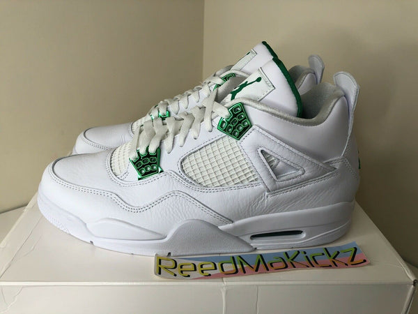 Nike Air Jordan IV 4 Retro 2020 White Metallic Green Mens CT8527 113