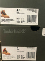 Timberland 6 inch Premium Boots Wheat Print Logo Kids Youth Junior TB0A29MC 231
