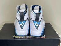 Nike Air Jordan 7 VII Retro White French Blue 2015 Mens 304775 107