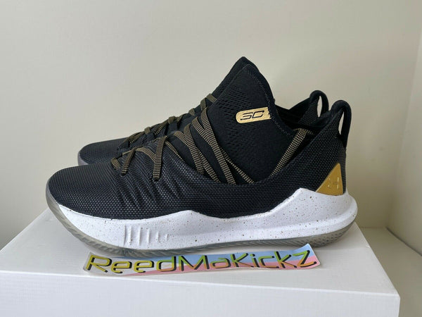 Under Armour Stephen Curry 5 V Championship Black White Gold GS 3020741 001