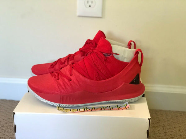 Under Armour Stephen Curry 5 V Red Fired Up Mens sizes 302657 600