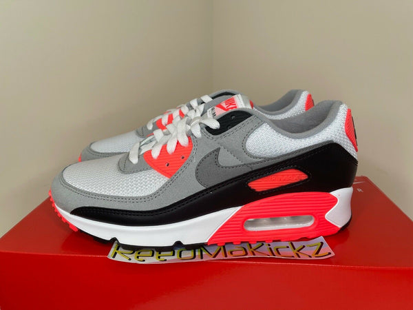 Nike Air Max 90 White Infrared 2020 Mens CT1685 100