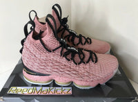 Nike Lebron 15 XV Hollywood Rustic Pink PRE OWNED Mens 897650 600
