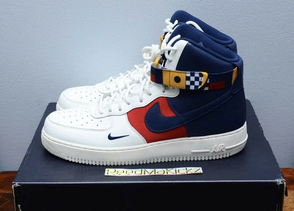 Nike Air Force 1 High '07 LV8 Nautical Redux Sail Midnight Navy Mens AR5395 100