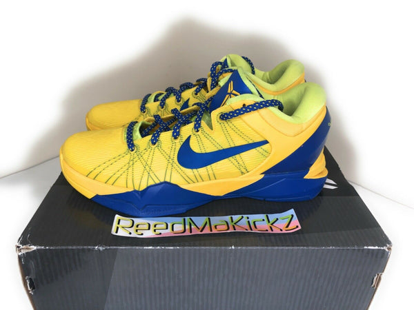Nike Kobe 7 VII System Barcelona FCB Tour Yellow PRE OWNED 488371 701 Mens 9.5US