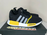 Adidas NMD R1 Black Yellow Japan Grade School Youth Sizes EG9730