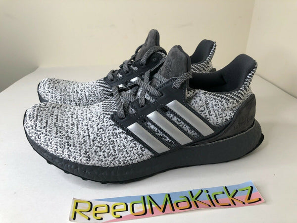 Adidas Ultra boost DNA Grey Metallic Silver Mens PRE OWNED FW4898