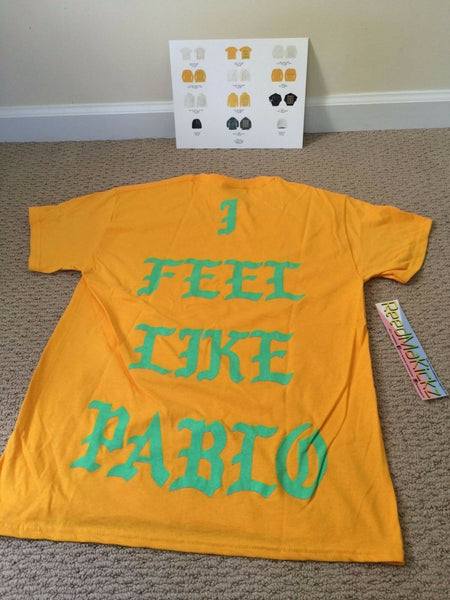 Kanye West I Feel Like Pablo Shirt Gold Philadelphia Pop Up Mens 100% AUTHENTIC