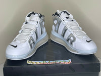 Nike Air More Uptempo 720 QS White Chrome Mens 11us DISPLAY ITEM BQ7668 100