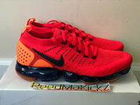 Nike Air Vapormax Flyknit 2 Red Orbit Obsidian Mens sizes AR5406 600