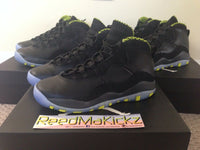 "Nike Air Jordan X 10 Retro 2014 ""Venom Green"" Grade school sizes DB POWDER BLUE"