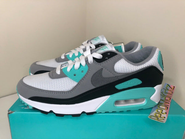 Nike Air Max 90 White Hyper Turquoise Mens CD0881 100