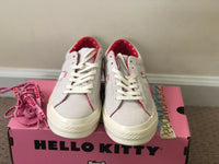 Converse one star Hello Kitty Grey Gray Suede 2018 Womens sizes 162937C