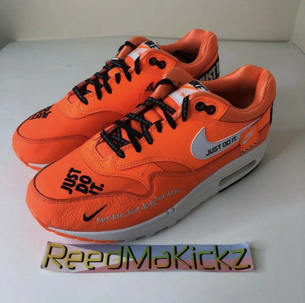 Nike Air Max 1 LX Just Do it Total Orange NO BOX womens 917691 800