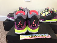 Nike Air Jordan 3 III Retro Atomic Red Grade school sizes