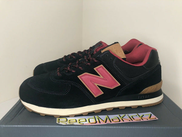 New Balance 574 Black Red Gum Mens ML574OTD