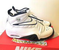 Nike Air Shake NDESTRUKT white navy Dennis rodman Mens sizes 880869 102