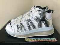 Nike Air More Uptempo 720 QS White Chrome Mens 11.5us DISPLAY ITEM BQ7668 100