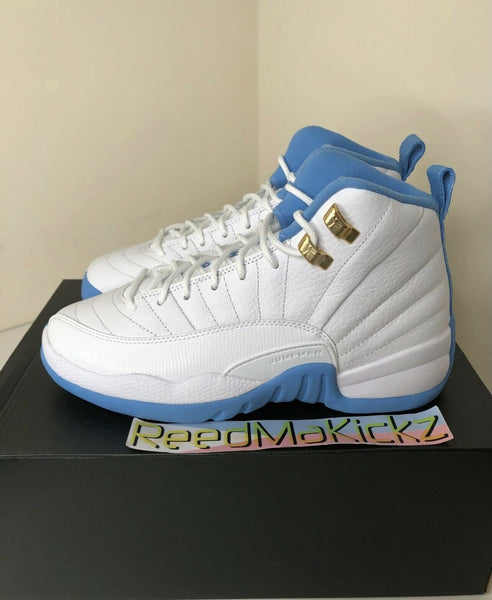 Nike Air Jordan 12 XII Retro 2016 White University Blue Grade School 510815 127
