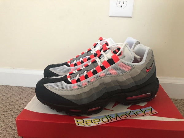 Nike Air Max 95 OG 2018 Solar red grey Mens sizes 609048 106