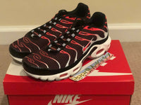Nike Air Max Plus Hot Lava Black Bright Crimson Mens sizes 852630 034