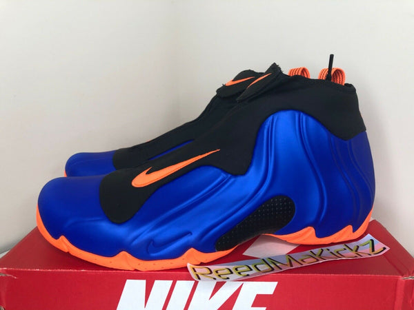 Nike Air Flightposite New York Knicks Racer Blue Orange Mens sizes AO9378 401