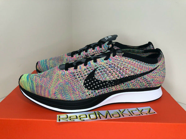 Nike Flyknit Racer 2016 Multi Color DAMAGED BOX Grey Tongue Mens 526628 004