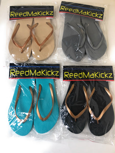 Reedmakickz Womens Beach Slippers Thong Assorted Colors