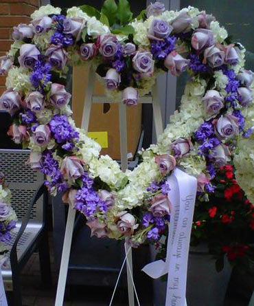 Wreath of Purple Heart and Snow