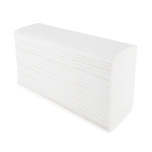 Smartbuy, HAND TOWELS, WHITE Z FOLD HAND TOWELS, 2 Ply, Case of 3000 Sheets