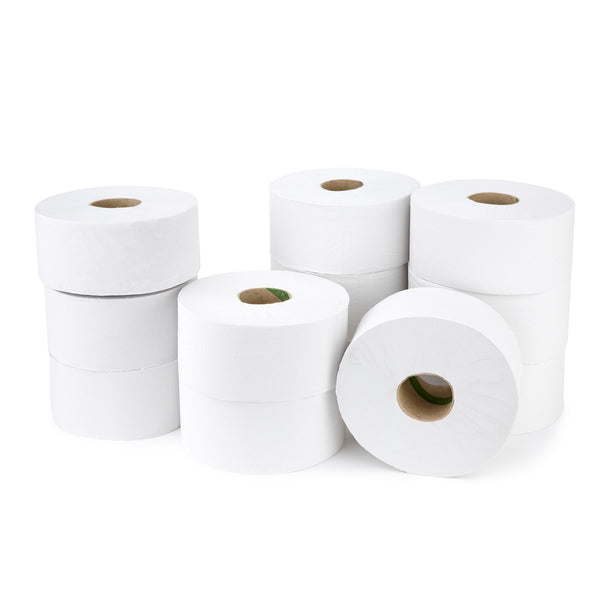 Smartbuy, MINI JUMBO TOILET ROLLS, 1 Ply, Case of 12 Rolls