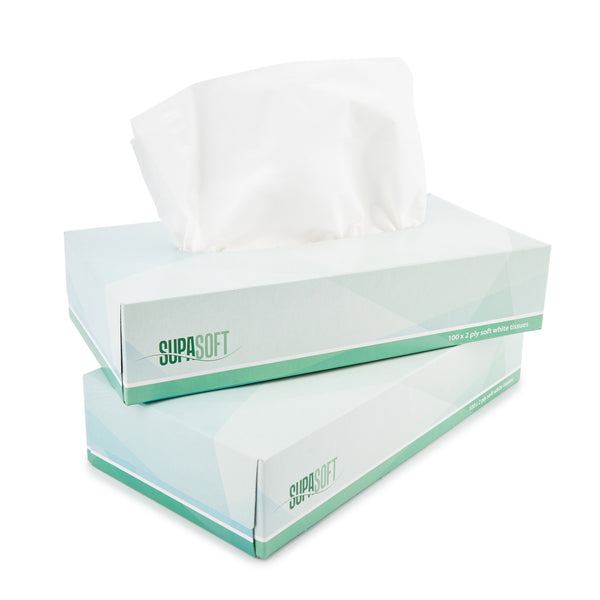 FACIAL TISSUES, 2 Ply, Case of 36 Boxes