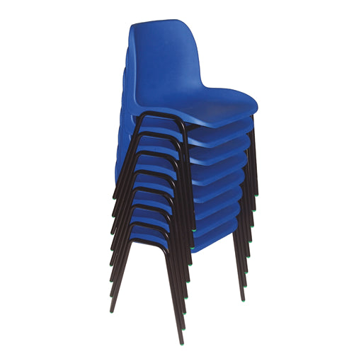 STACKING CLASSROOM CHAIRS SET, Sizemark 2 - 310mm Seat height, Blue, Smartbuy, Set of 8