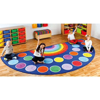 KIT FOR KIDS,, RAINBOW(TM) PLACEMENT CARPETS, LARGE SEMI CIRCLE, 2000 x 4000mm, Each