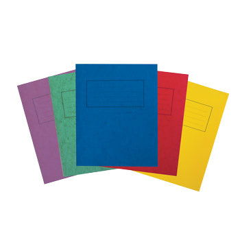 EXERCISE BOOKS, PREMIUM RANGE, A4 (297 x 210mm), 80 pages, Red, Half plain, half 15mm ruled, Pack of 50