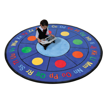 LEARNING RUGS, CHILDREN'S CUT PILE RUGS, Dots, Round, 1980mm diameter, Each