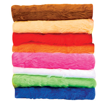 TEXTILES, FABRIC PACKS, Fur, 1.5m x 300mm approx., Pack of 8