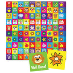 STICKERS, MOTIVATION & REWARD, SQUARE, Pack of 600 stickers